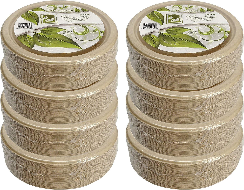 100% Compostable Disposable Paper Plates Bulk Sale 400 9