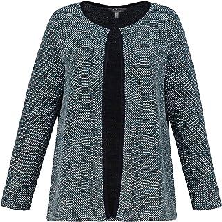ULLA POPKEN Strickjacke Im Tweed Look Maglione Cardigan Donna