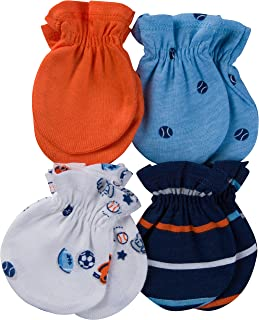 Gerber Baby Boys 4 Pack Mittens