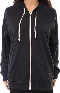 Alternative Black Womens Size Small S Hooded Fleece Full Zip Sweater