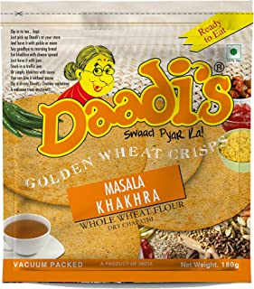 Daadi's Golden Wheat Crisps Masala Khakhra (Pack of 3)