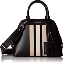 Calvin Klein Clara Stucco Leather Key Item Dome Satchel
