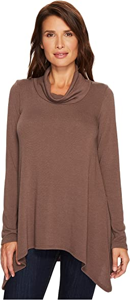 Karen Kane - Funnel Neck Curved Hem Sweater