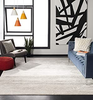 Safavieh Adirondack Collection ADR113B Ivory and Silver Modern Abstract Area Rug (4' x 6')
