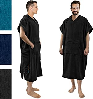 SUNCUBE Surf Poncho Changing Robe with Hood   Thick Quick Dry Microfiber Wetsuit Changing Towel for Surfing Beach Swim Outdoor Sports