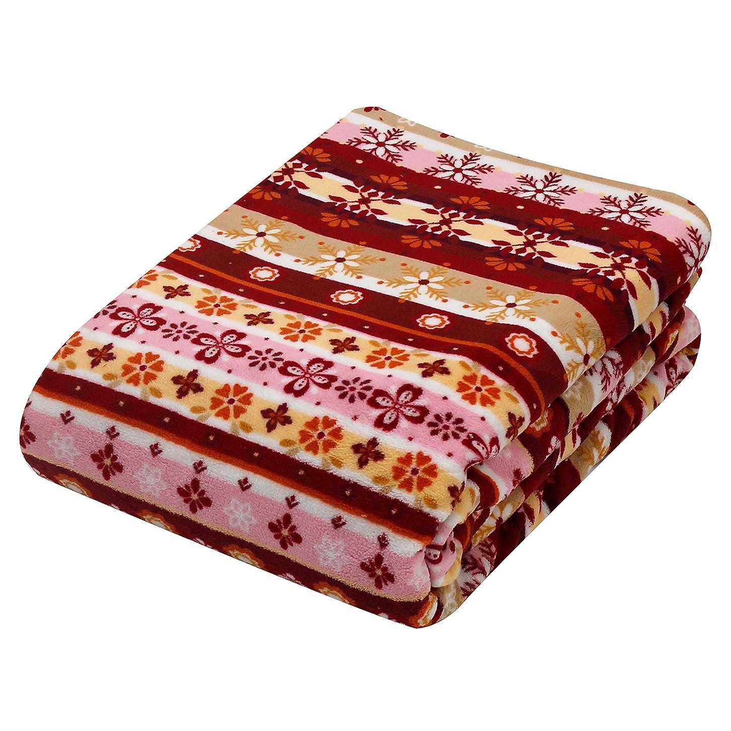 憧れトラフィック合計京都西川 かけ布団カバー 毛布 1枚2役 洗える サンゴマイヤー おしゃれでかわいい北欧調ノルディック柄 ピンク シングル ロング 150×210 SNG-NM5-61
