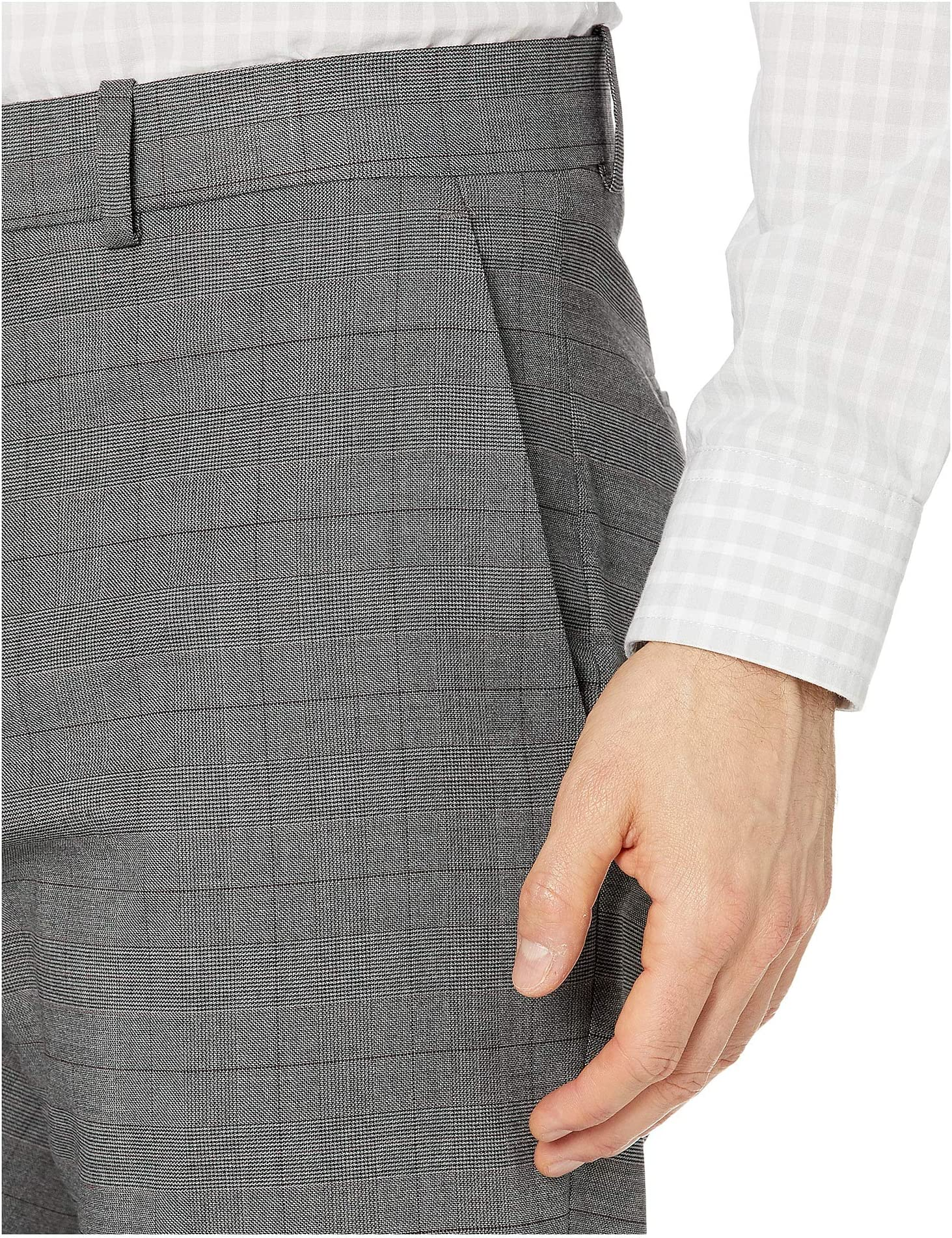 Perry Ellis Portfolio Very Slim Tonal Heathered Plaid Dress Pants 4rBIu