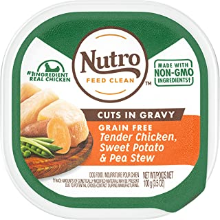 Nutro Grain Free Wet Dog Food Adult & Puppy, 3.5 oz Trays (Pack of 24)
