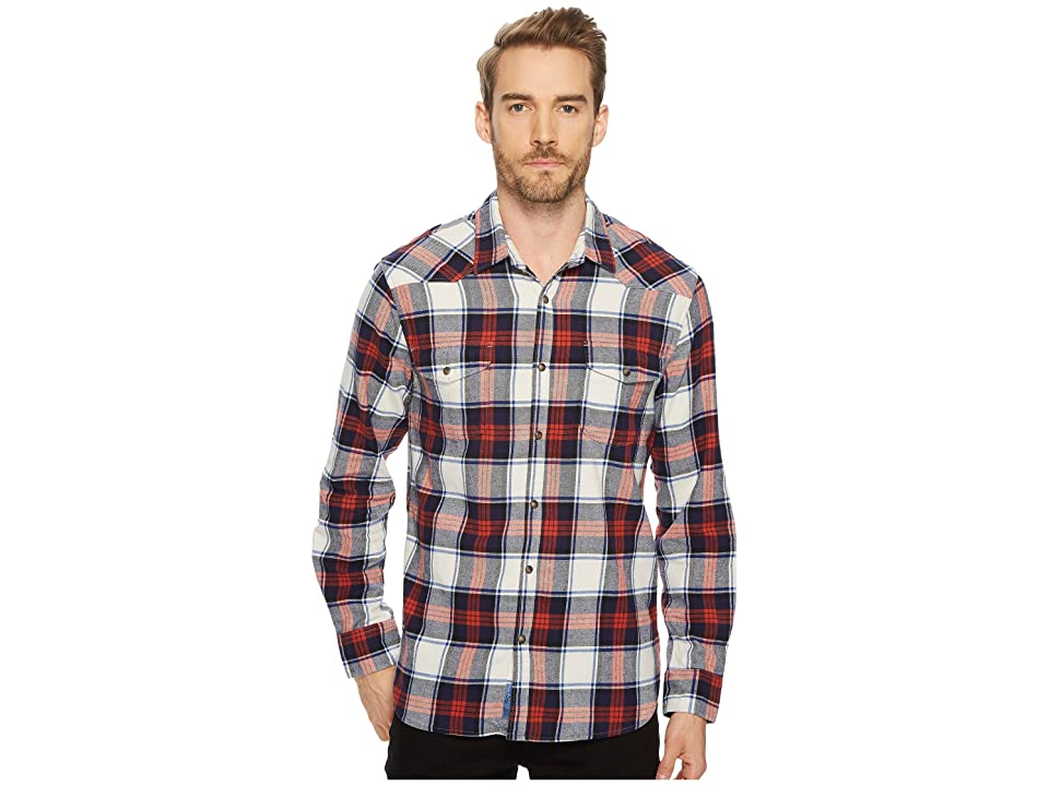 Lucky Brand Mason Workwear Shirt (White/Red/Blue) Men