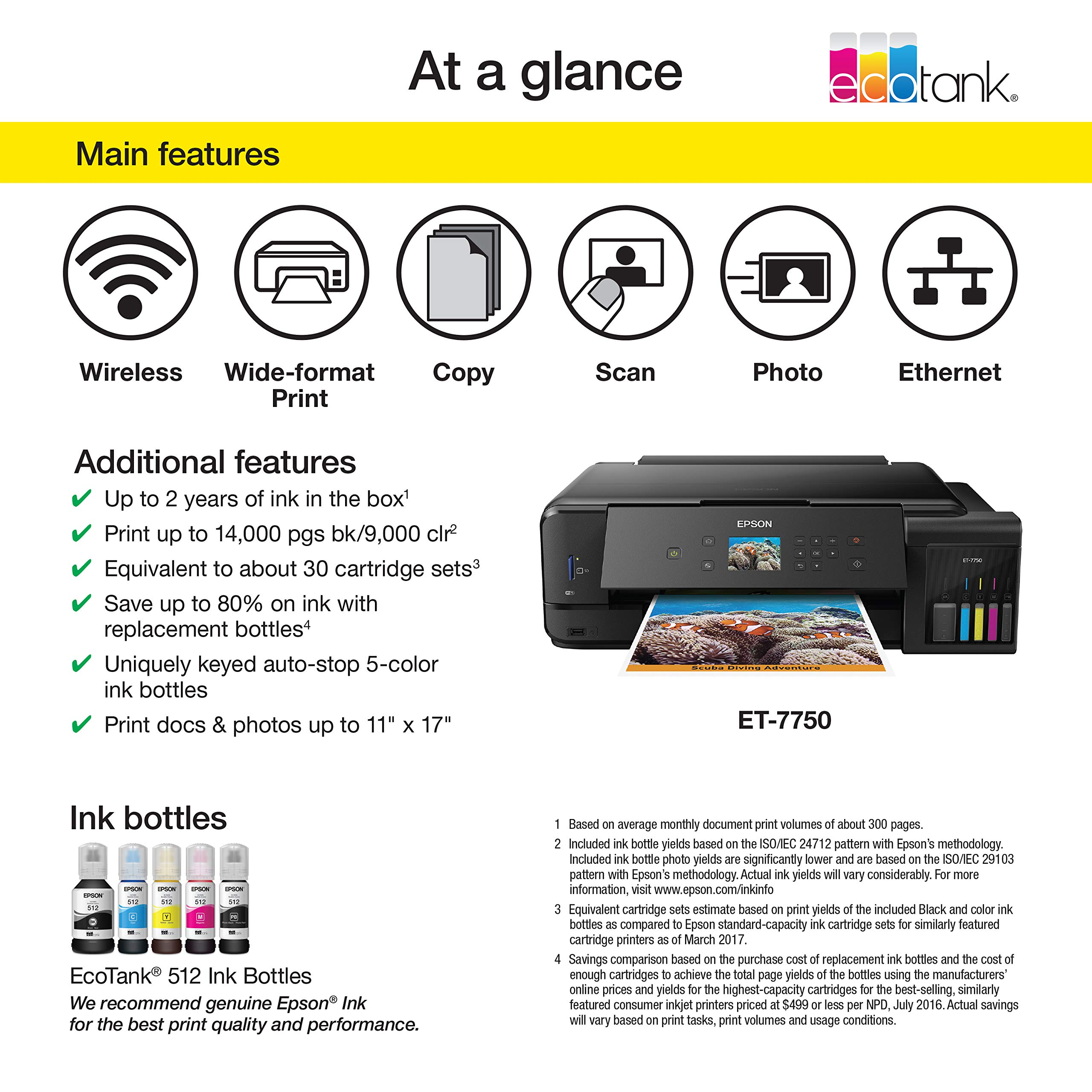 Epson Expression Premium Ecotank Wireless 5 Color All In One Supertank Printer With Scanner Copier And Ethernet Amazon Sg Electronics