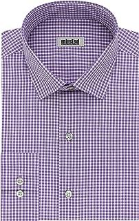 قميص رسمي للرجال من ان ليستيد باي كينيث كول بتصميم ضيق ونمط مربعات وخطوط (منقوش)
