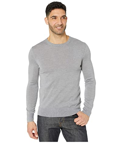 Calvin Klein Merino Crew Neck Sweater (Medium Grey Heather) Men