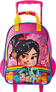 Mala Escolar G com Rodinhas Disney Venellope - Wi Fi Ralph, 41 X 30 X 14, Dermiwil 52212, Multicor