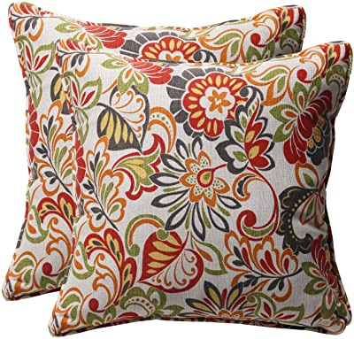 "Pillow Perfect Outdoor/Indoor Zoe Citrus Throw Pillows, 18.5"" x 18.5"", Green, 2 Pack"