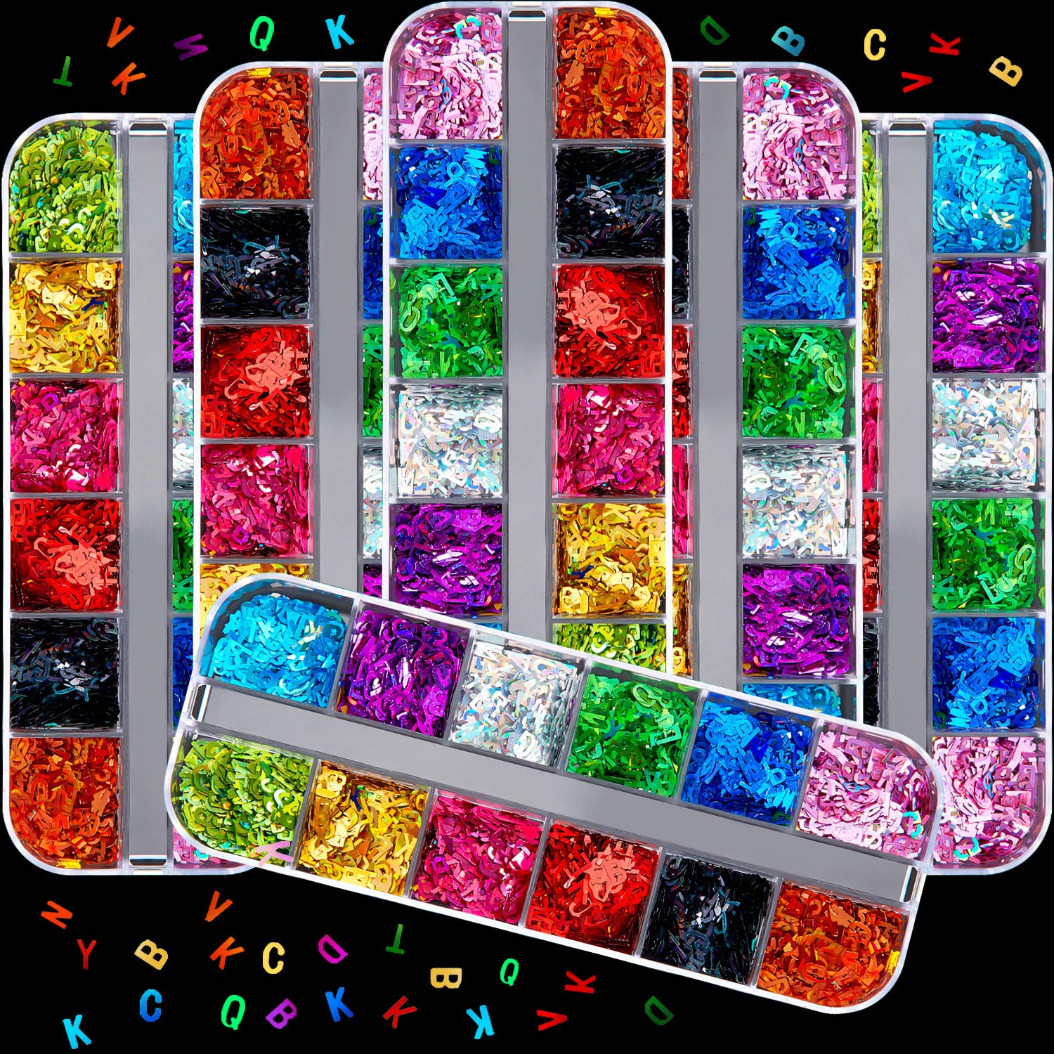 72 Boxes Holographic Letter Sequins Nail Decals Discount is also Chicago Mall underway