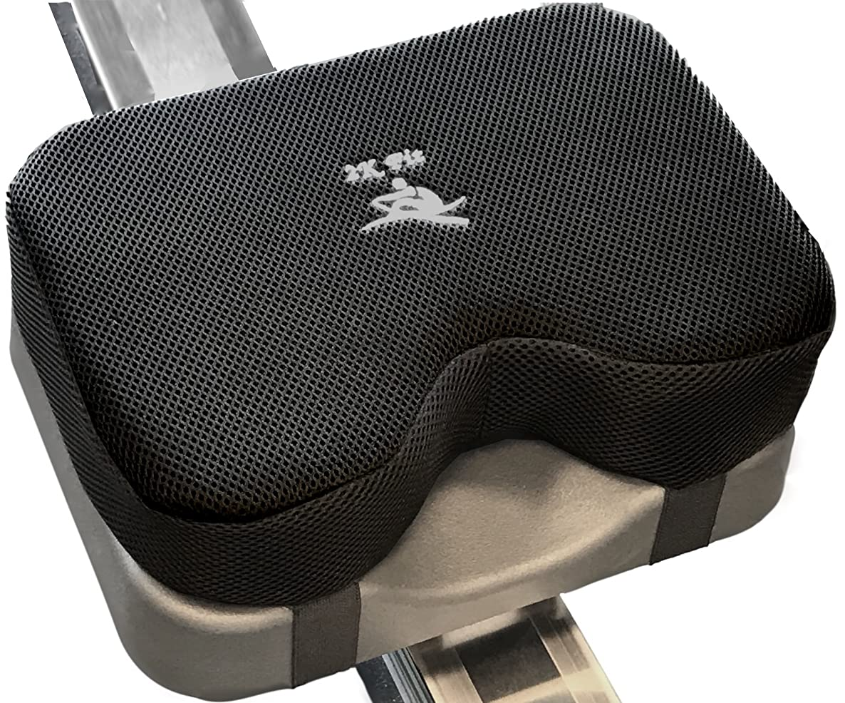 Rowing Machine Seat Cushion (Model 2) That Perfectly fits Concept 2 with Thicker Memory Foam, Washable Cover, and Straps- Also Works Great with Exercise Recumbent Stationary Bike aykuvjxuygiilpgc