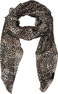 Trussardi Jeans 女式 Foulard Misto Seta Animalier L Stole,多色(动物米色 W702),均码(尺码:UNI)
