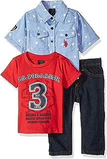Baby Boy's Short Sleeve Shirt, T-Shirt and Pant Set Pants