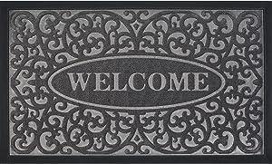 Extra Durable Door Mat, Welcome Mats for Front Door - Front Door Mat Outdoor, Welcome Mats Outdoor(30x18), Non-Slip Rubber Floor Mats, Waterproof, Easy Clean,Door Mats for Home Entrance, Garage, Patio