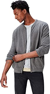 Amazon Brand - find. Men's Cotton Cardigan Sweater in Bomber Jacket Style