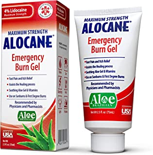 Sponsored Ad - Alocane Emergency Burn Gel, 4% Lidocaine Maximum Strength Fast Pain and Itch Relief for Minor Burns, Sunbur...