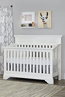 Baby Cache Haven Hill, 4-in-1 Convertible Crib, White Lace