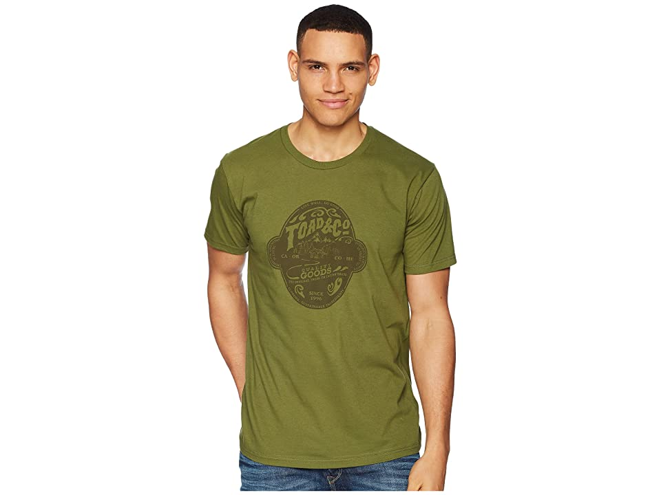 Toad&Co Brewed For Adventure Short Sleeve Tee (Thyme) Men