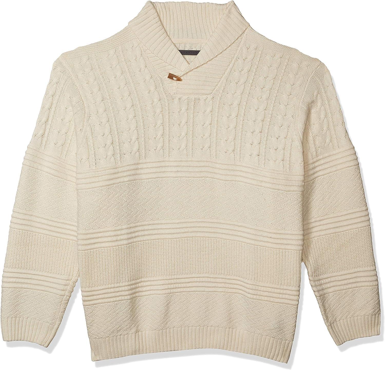 Sean John Men's Long Sleeve Pullover Diddy Shawl Neck Sweater