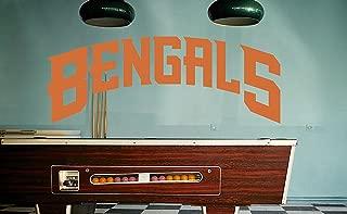 Cincinnati Bengals sticker, Cincinnati Bengals decal, Bengals decal, Bengals sticker, Bengals home decor, Bengals car sticker, NFL Bengals sticker, NFL decal, Bengals wall decal f18 (5x10)