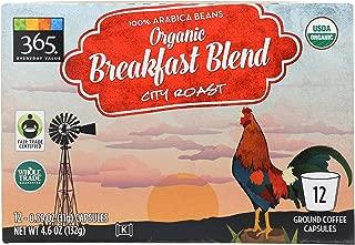 365 Everyday Value, Organic Breakfast Blend City Roast Coffee Capsules, 12 ct
