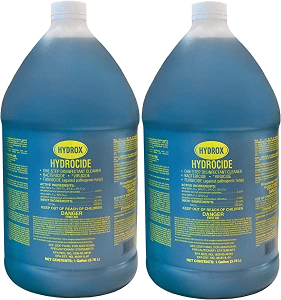 Hydrox Hydrocide One Step Disinfectant Cleaner Gallon Pack Of 2