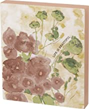 """Primitives by Kathy Friendship Heart Gallery Block Sign, 6"""" x 7"""", Life Is Beautiful"""
