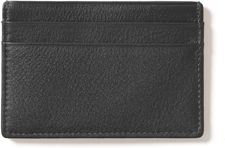 Max Popular products 89% OFF Leatherology RFID Black Onyx Men's Credit Case Wallet Slim Card
