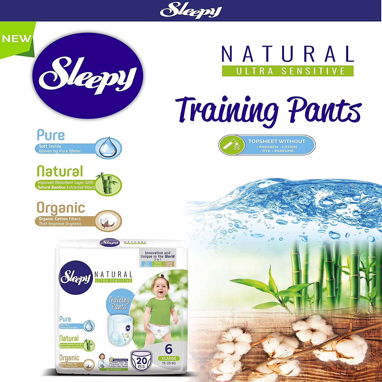 4-9kg Midi Nappy Pants Trainning Pants 34 Nappy Pants per Pack Sleepy Natural Size 3