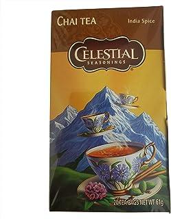 Celestial Tea | Celestial Seasonings Tea | 20 Bags of Celestial Tea with Spices & Vanilla | Celestial Seasonings Chai Tea ...
