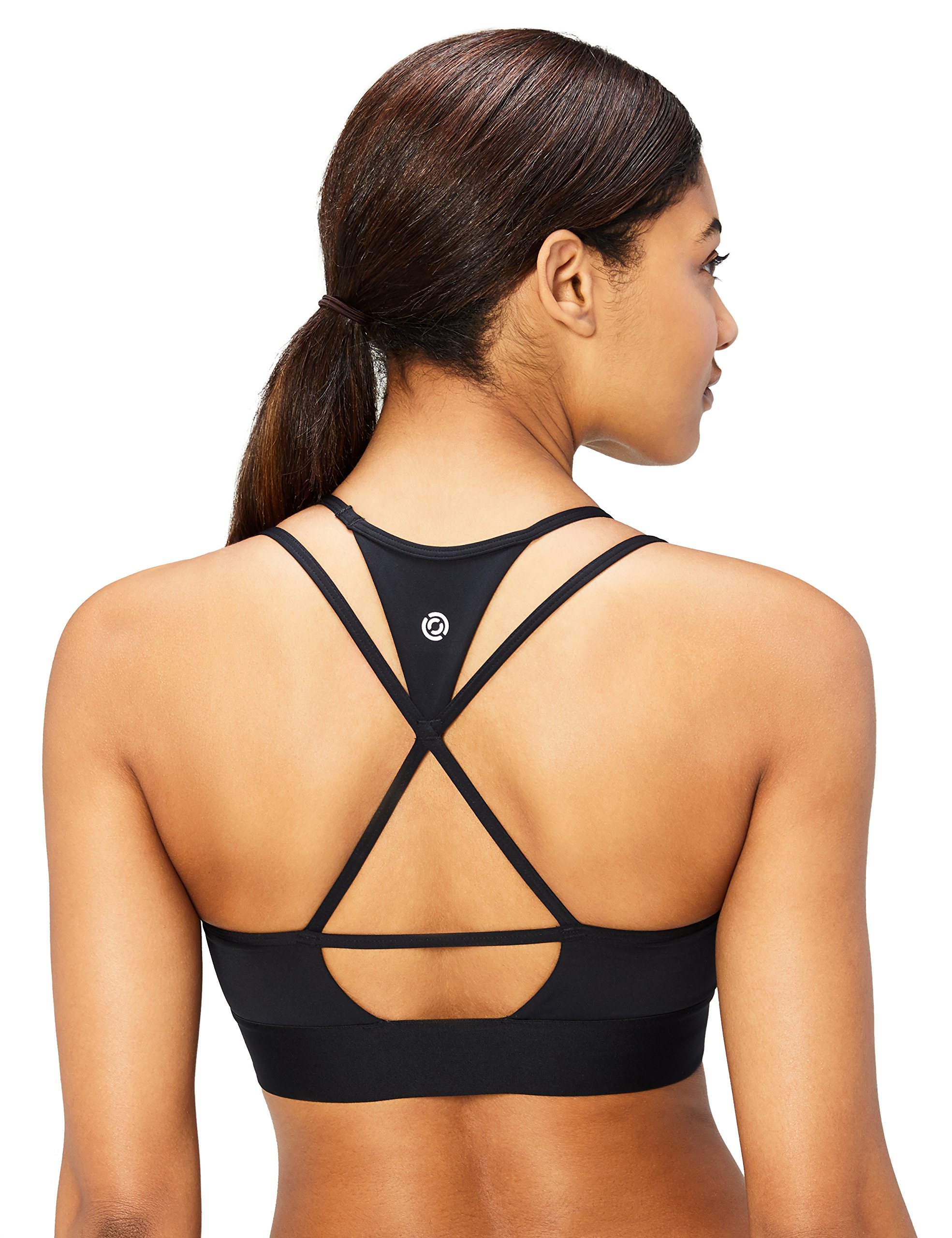 XS-3X All Around Sports Bra Cross-Back Featuring Strappy T-Back Designs Brand Core 10 Womens