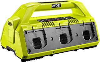 Ryobi RC18627 18V ONE+ 2.7A 6-Port Battery Charger, 18 V, Hyper Green/Grey