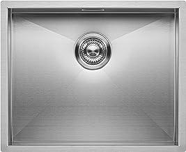 RVS Spoelbak Keuken 50 cm Onderbouw/Vlakbouw - Moderne Keuken Spoelbak MIZZO Quadro – Spoelunit