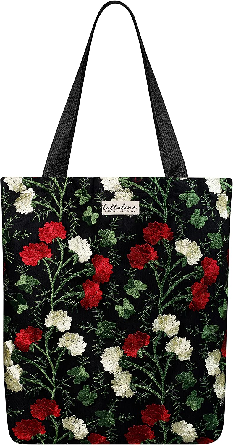 Lullaline Now free Nippon regular agency shipping Thai Handmade Flower Bag Tote Floral Embroidered Lace