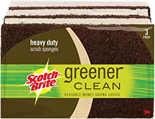 Scotch-Brite Greener Clean Heavy Duty Scrub Sponge, 3 Scrub Sponges (Pack of 8)