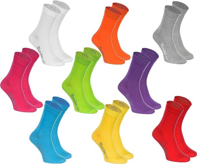 290 opinioni per Rainbow Socks- Donna Uomo Colorate Calze di Cotone- 9 Paia- Multicolore- Tamaño
