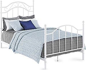 Dorel Living Winnie, White Twin Metal Bed,