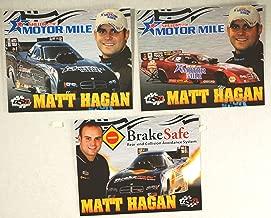 2009 - NHRA - Full Throttle Drag Racing Series - Matt Hagan - Shelor.com Motor Mile/DSR/Don Schumacher Racing - NAPA/Valvoline/Matco Tools - 3 Promo Cards - Rare - Collectible