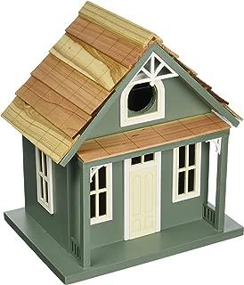 Home Bazaar- Hand-made Santa Cruz Cottage Green Bird house - Small Bird House - Home Decor