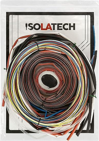 Schrumpfschlauch 3:1 schwarz vers Durchmesser und L/ängen von ISOLATECH Hier 3mm-10m