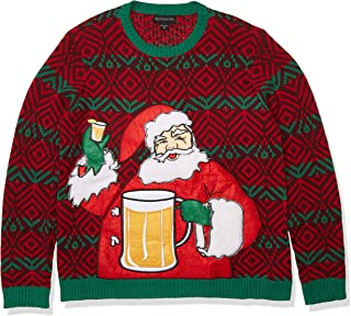 Blizzard Bay Men's Ugly Christmas Sweater Drink Pocket