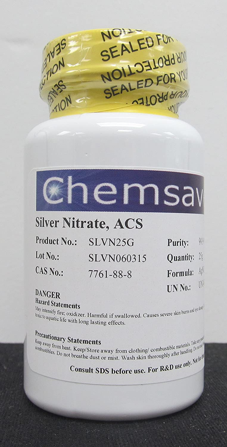 In Spasm price stock Silver Nitrate ACS 25g 99.9+%
