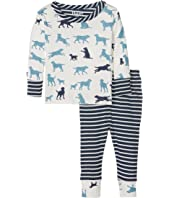 Hatley Kids - Pup Play Long Sleeve Mini Pajama (Infant)