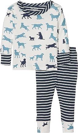 Hatley Kids - Pup Play Long Sleeve Mini Pajama (Infant)
