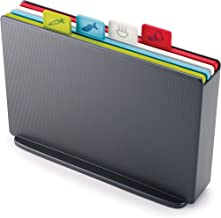 JOSEPH JOSEPH JJ60132 Index Chopping Board Chopping Board, Graphite case with Multi-Coloured Boards